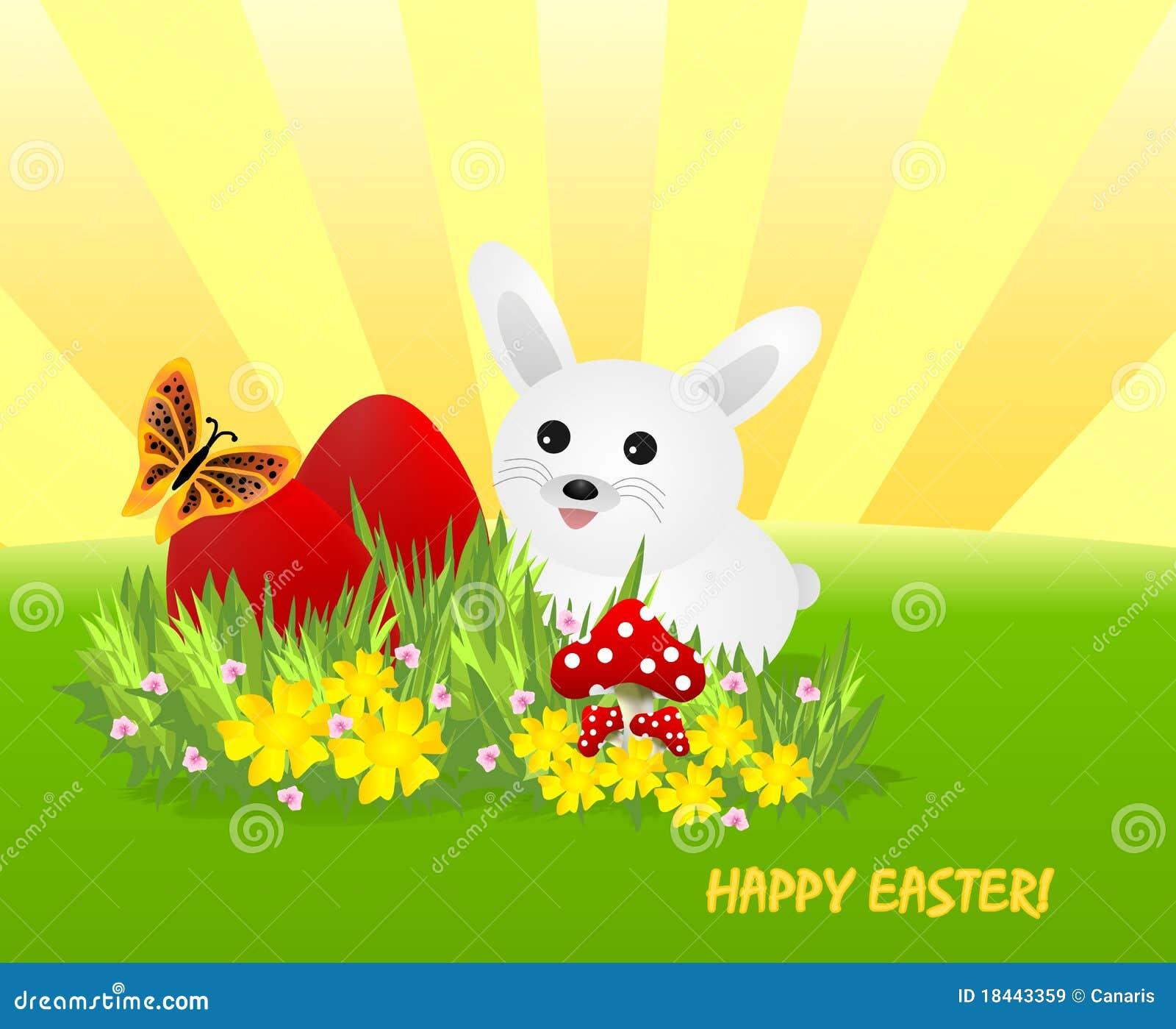 Królika cdr Easter jajek czerwieni wektoru biel