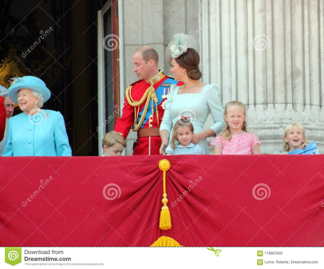 Królowa Elizabeth, Londyn, uk, 9th 2018 Czerwiec - książe George William, Charles, Kate Middleton & Princess,