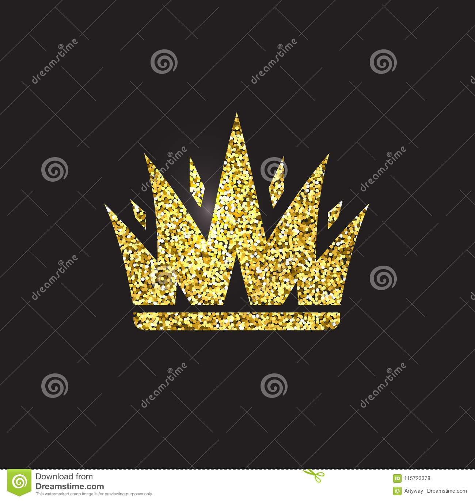 Królowej korona, królewski złocisty pióropusz Królewiątka złoty akcesorium Odosobnione wektorowe ilustracje Elita klasowy symbol