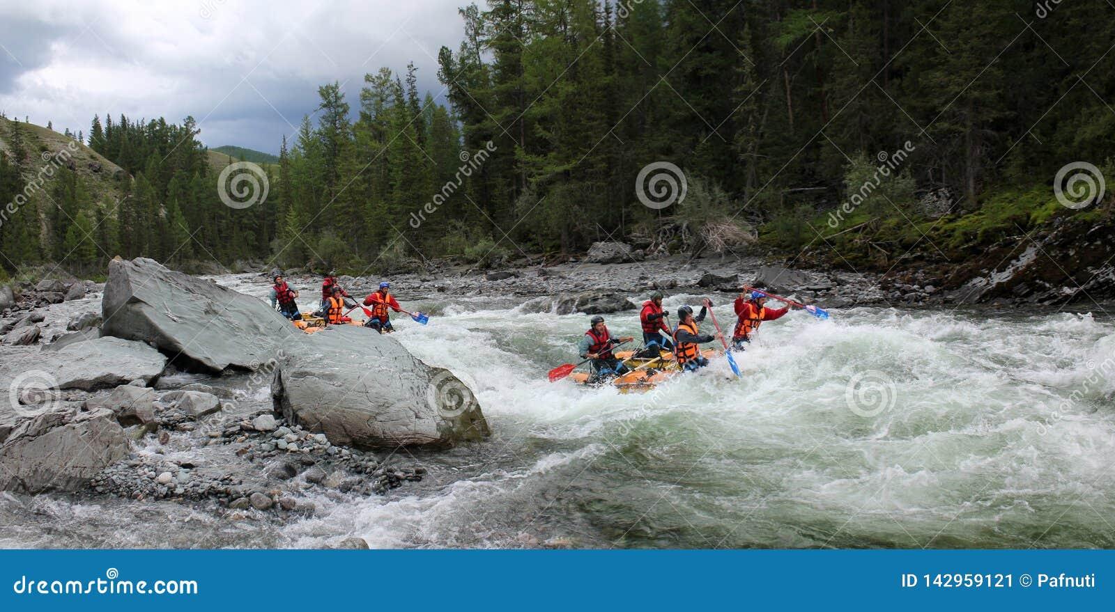 Krańcowy flisactwo na Bashkaus rzece, krańcowy sport