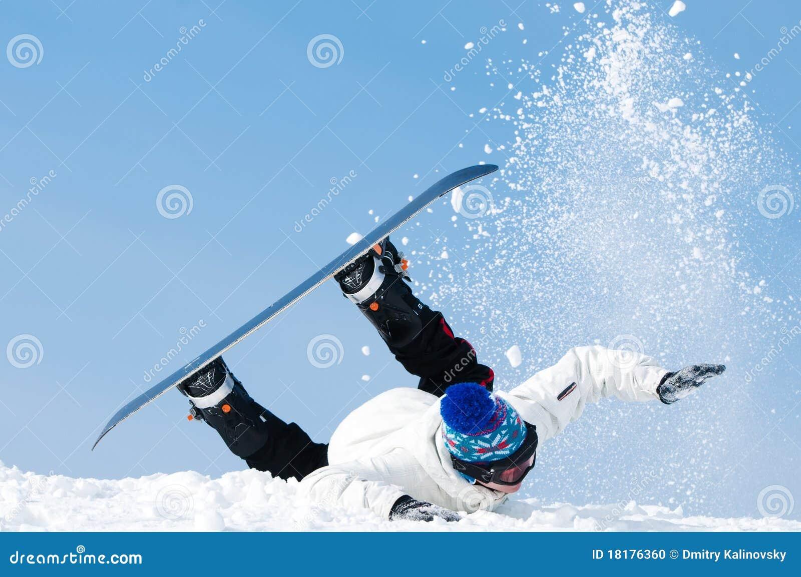 Krańcowy spadać snowboard