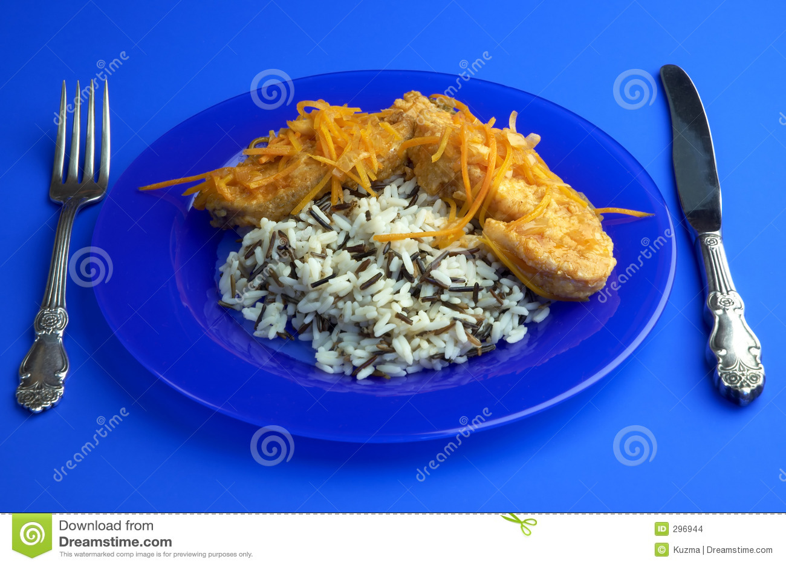 Kraakbeenachtige vissen en rijst