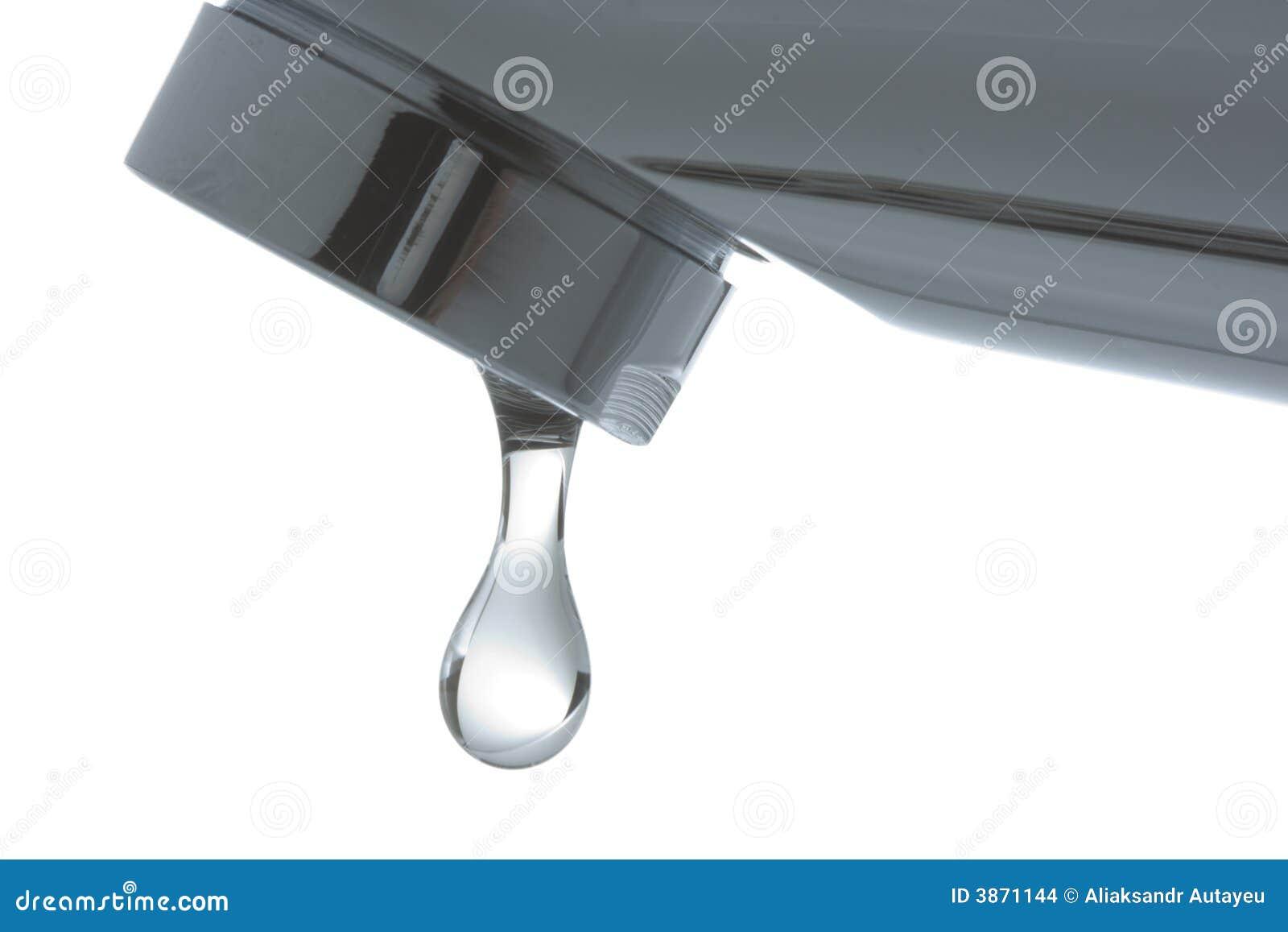 Kraan met een daling van water