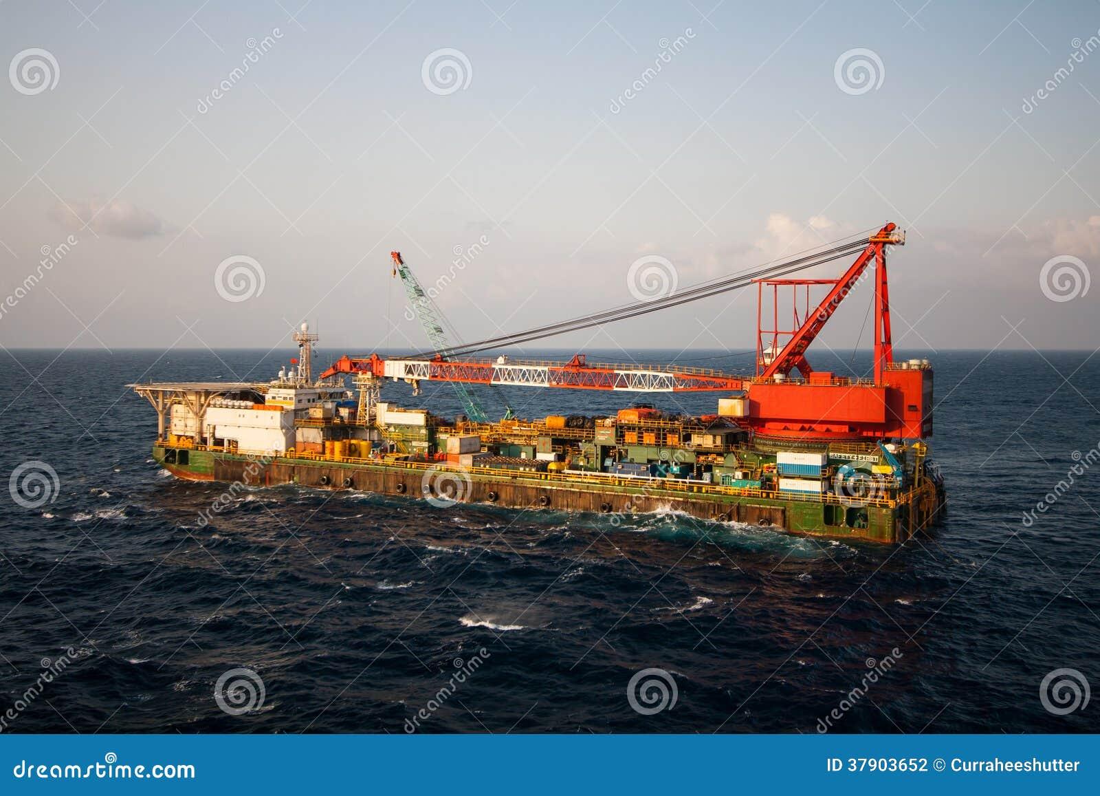 Kraanaak die mariene zware liftinstallatie doen