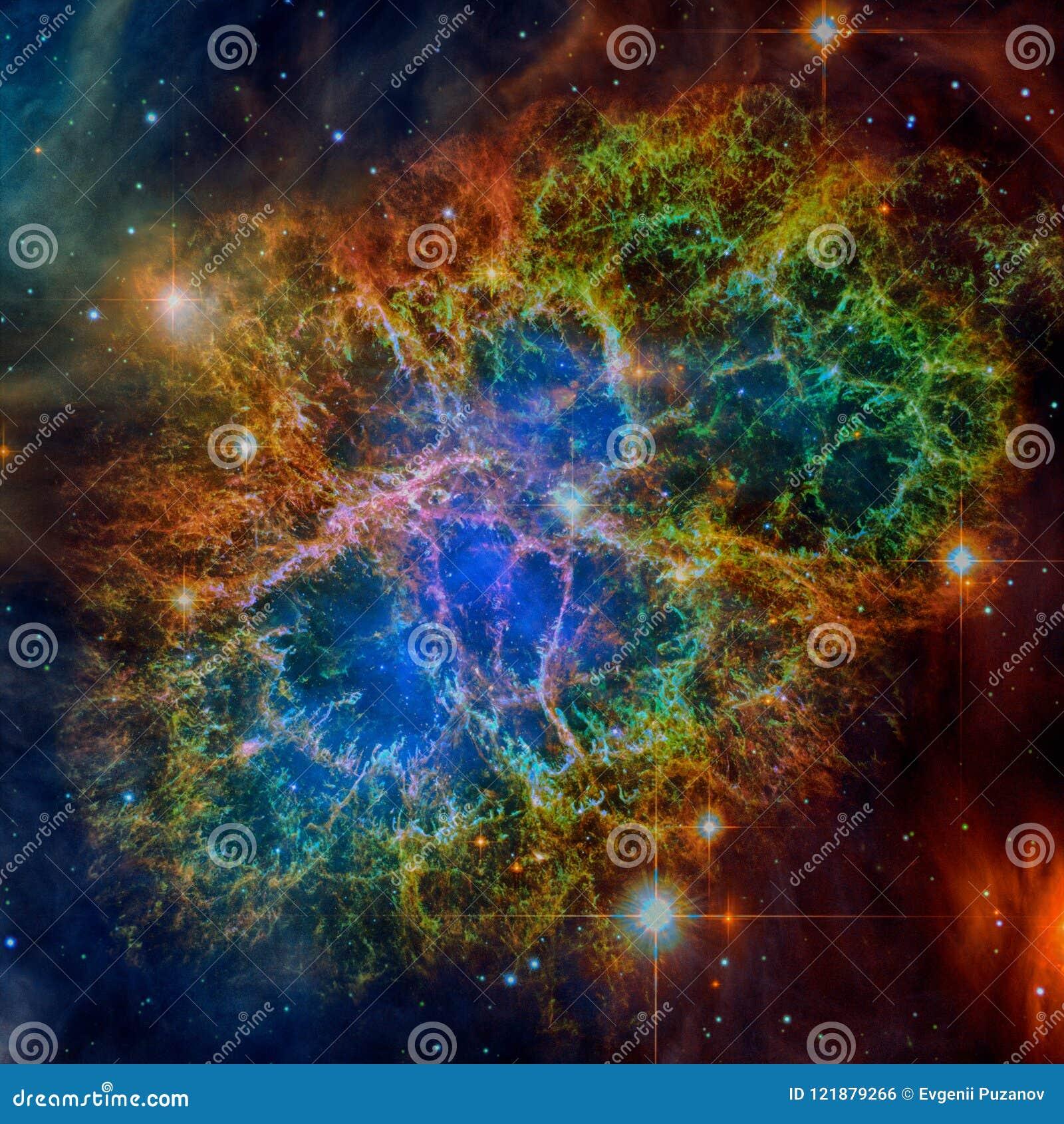 Krab mgławica Elementy ten wizerunek meblujący NASA