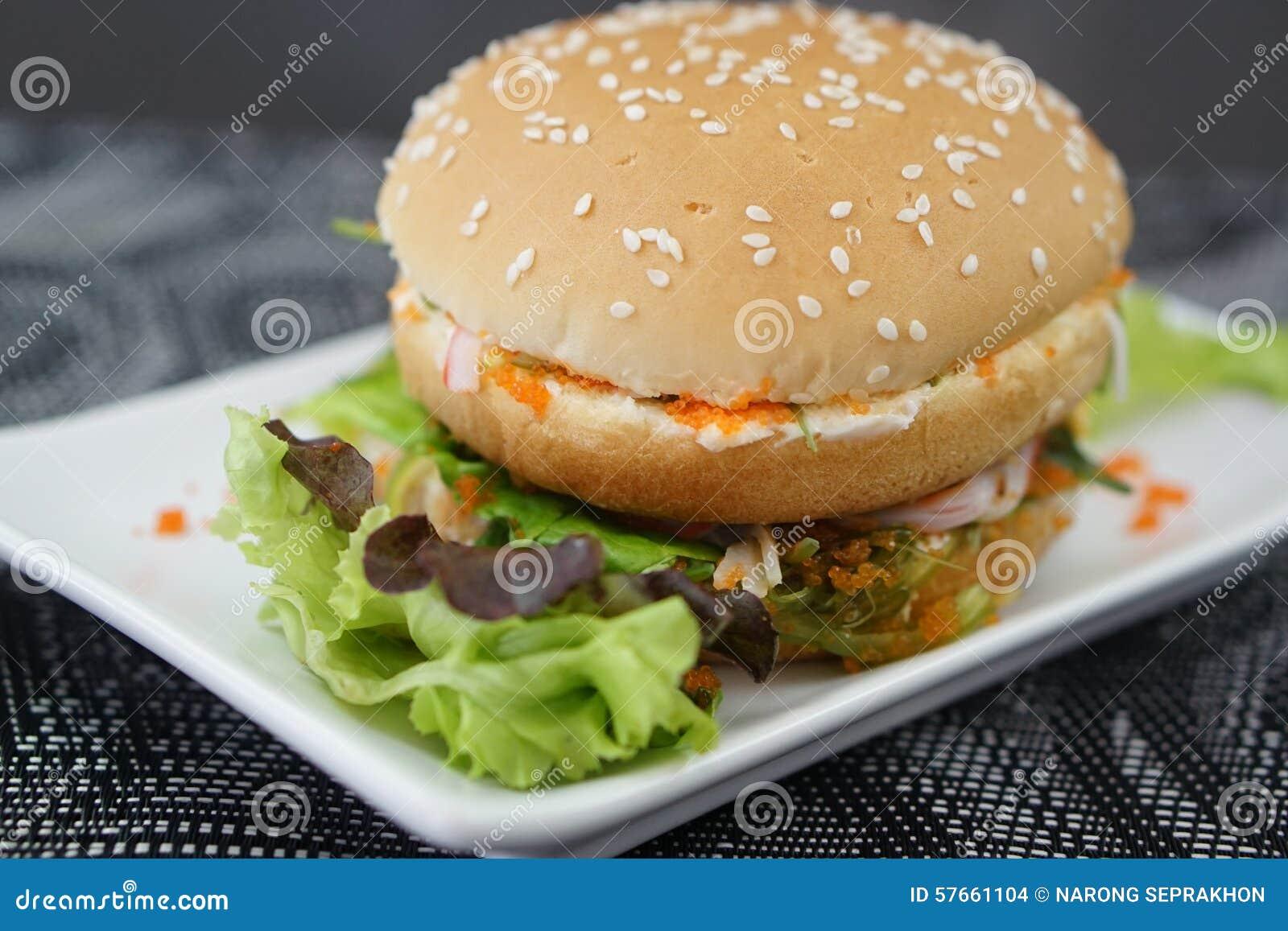 Kraba i algi hamburger