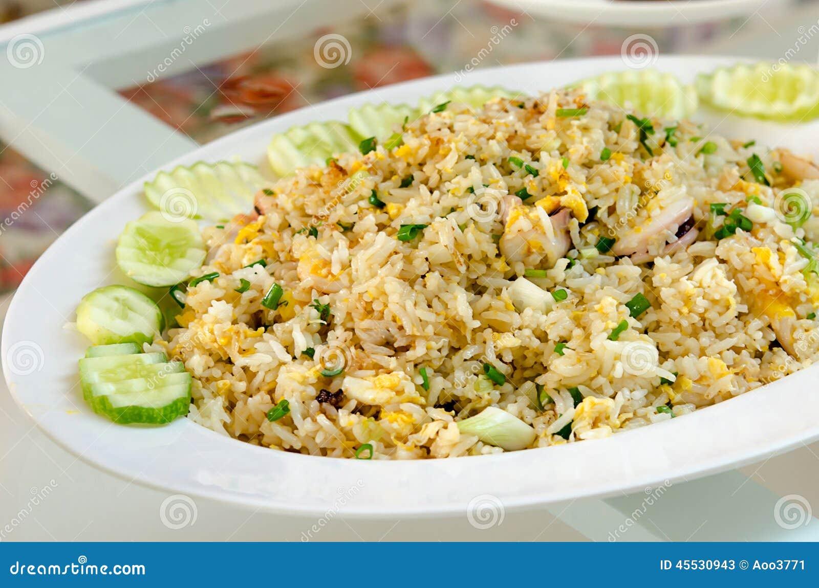 Krabba stekt rice