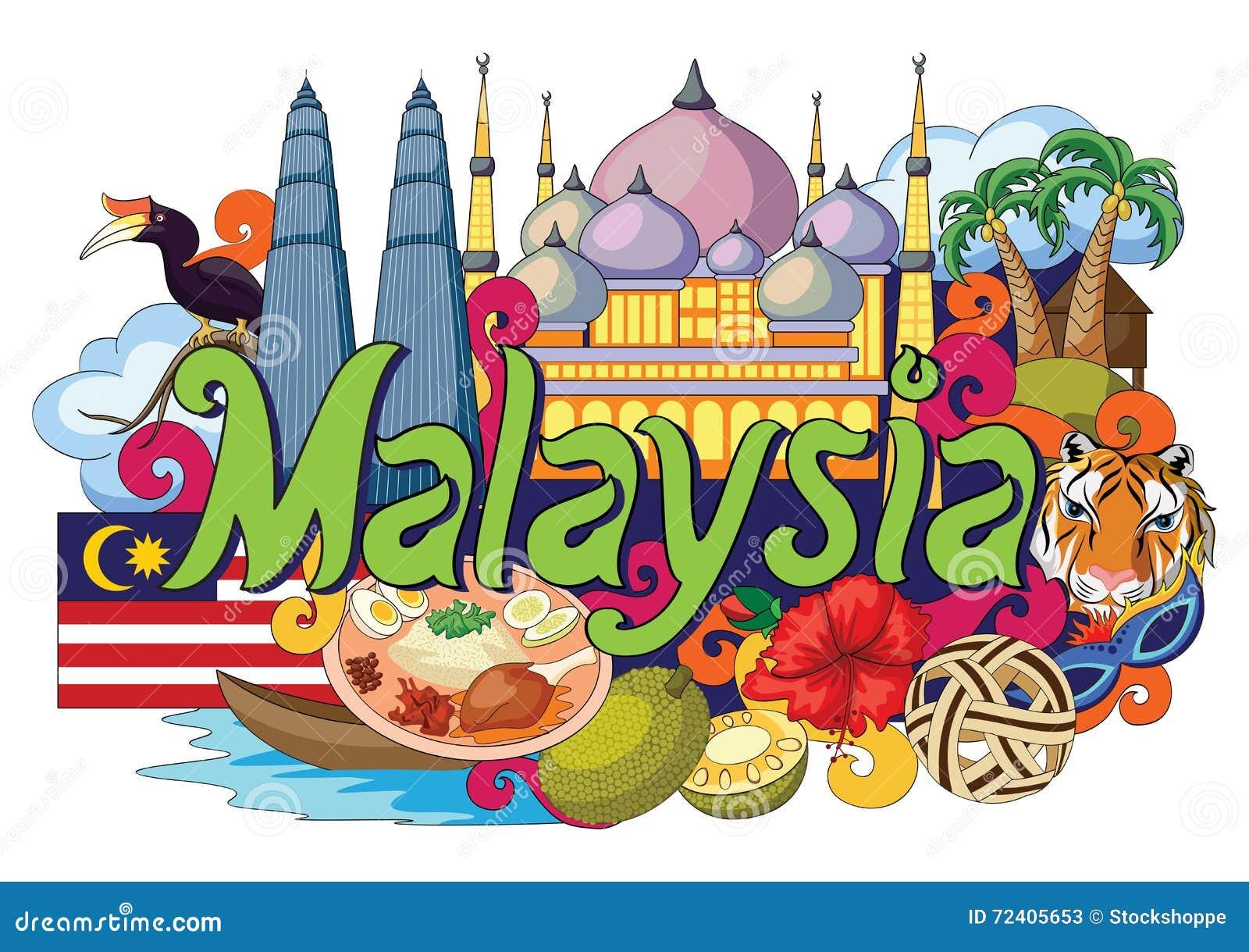 Krabbel die Architectuur en Cultuur van Maleisië tonen