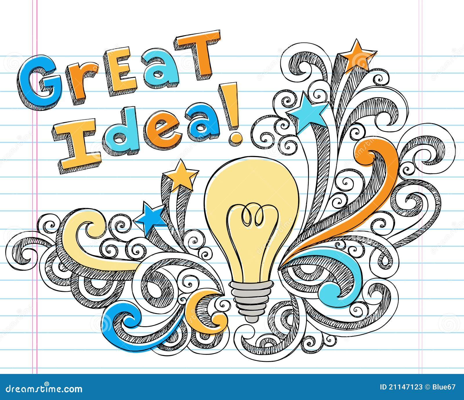Krabbels van het idee van de gloeilamp hand drawn schetsmatige vector illustratie afbeelding - Idee van eerlijke lay outs ...