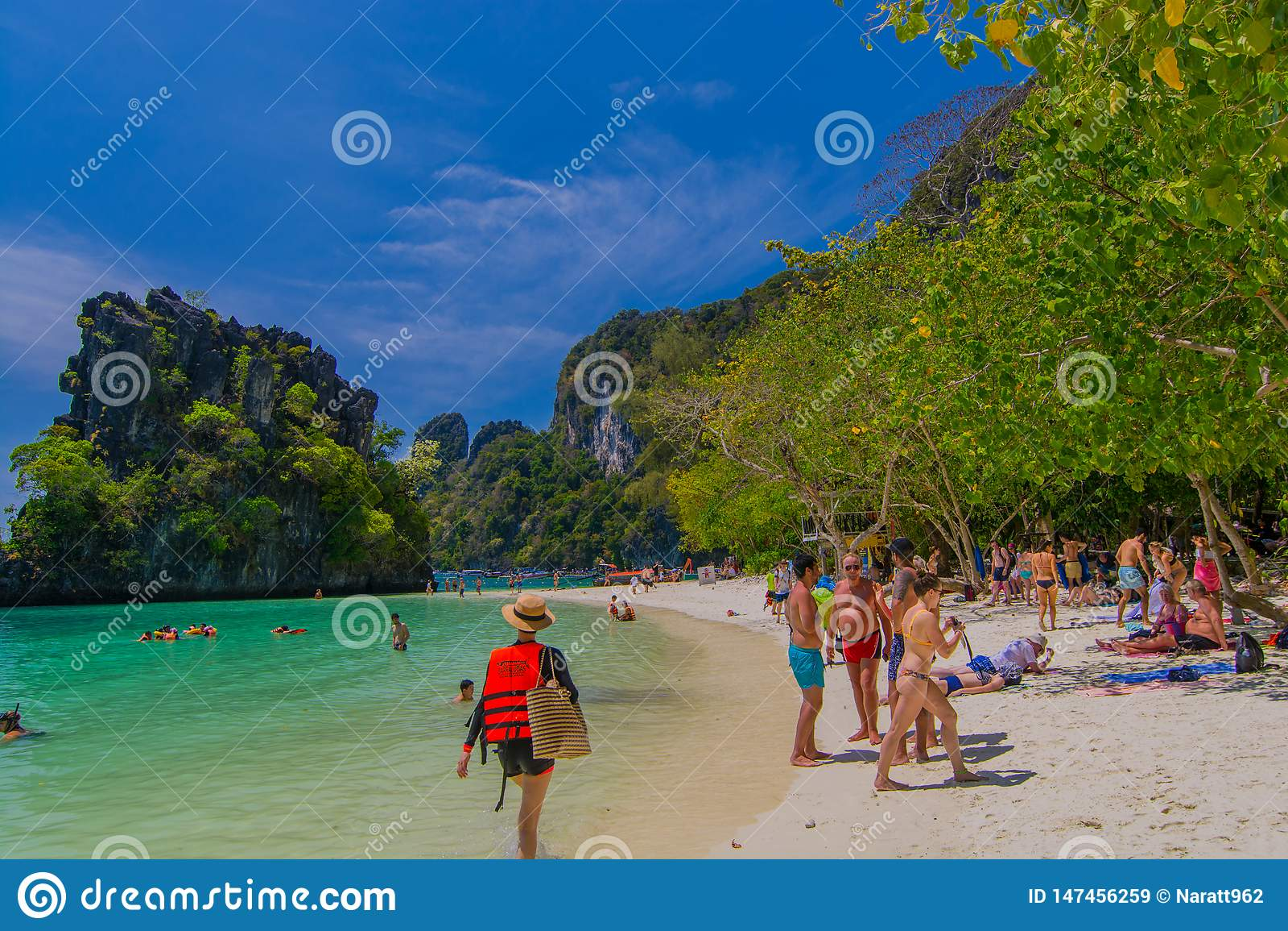 Krabi Thailand February 23 2019 Tourists Come To Relax