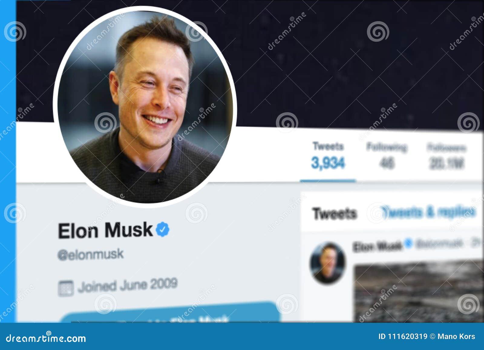 KRABI, THAILAND - MARCH 08, 2018: Closeup Of Elon Musk Twitter