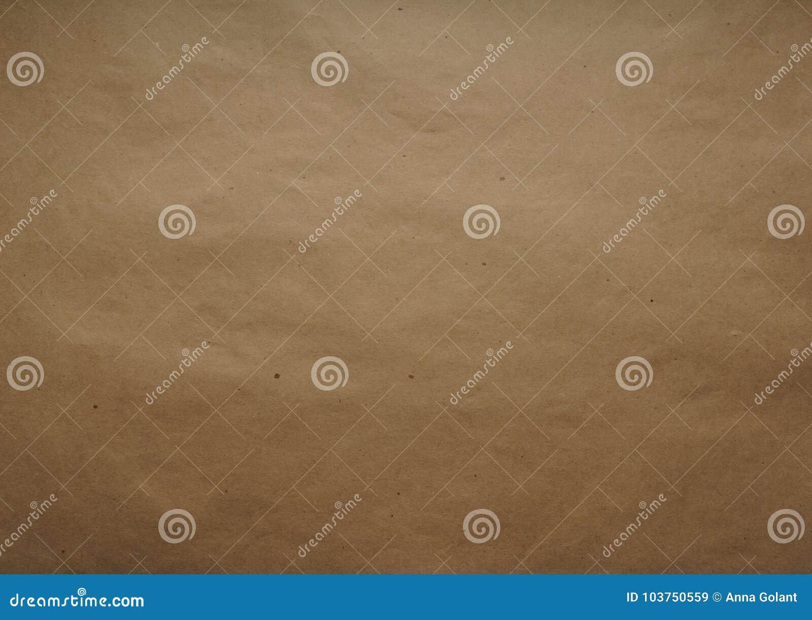 Kraft inpackningspapper ark Brun färg texturen Bästa sikt, närbild