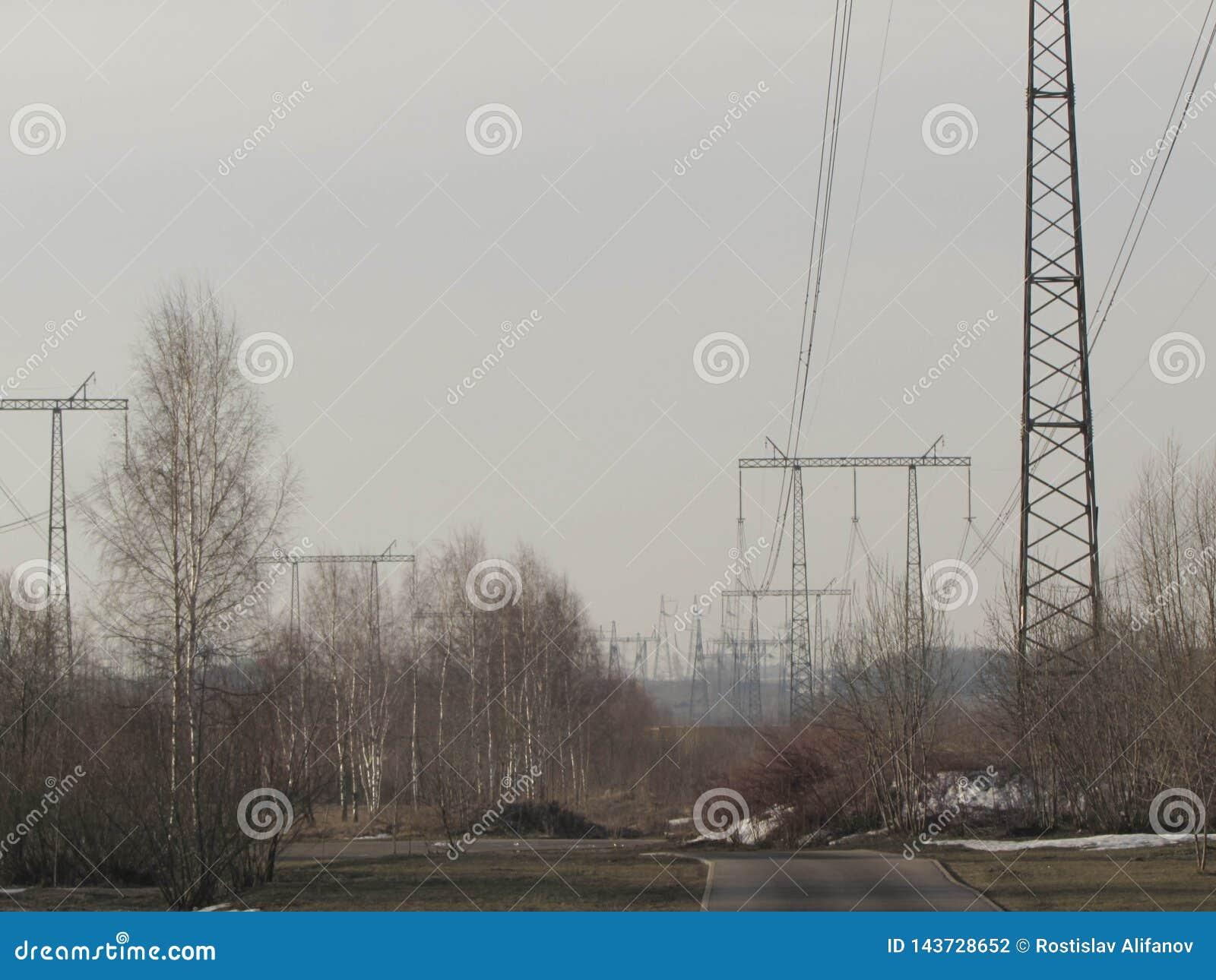 Kraftledning i Moskva