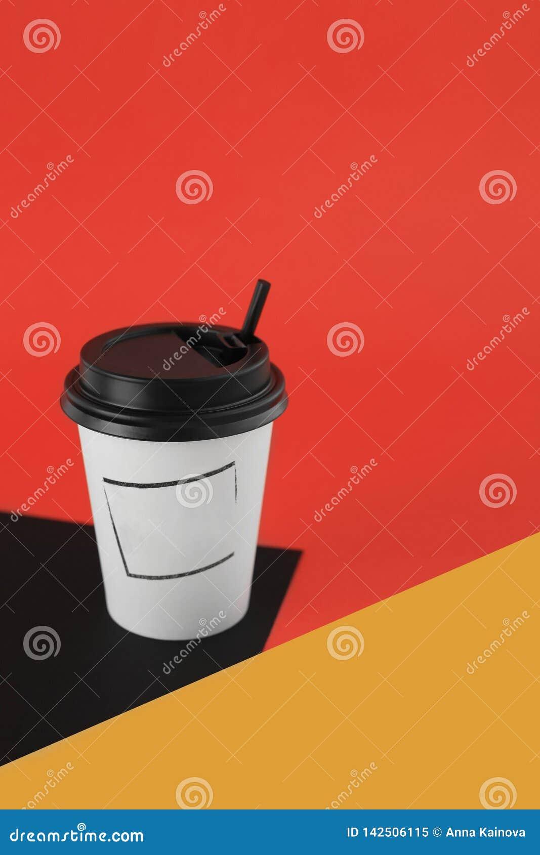 Kraftpapier-kop voor hete dranken