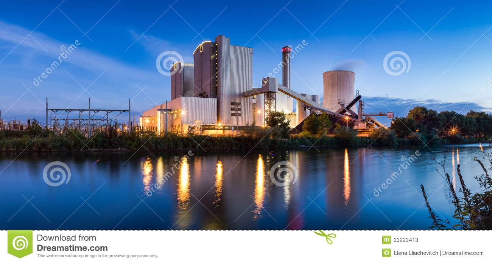 Kraftwerk Panorama Hannover, Stöcken Stockbild Bild von