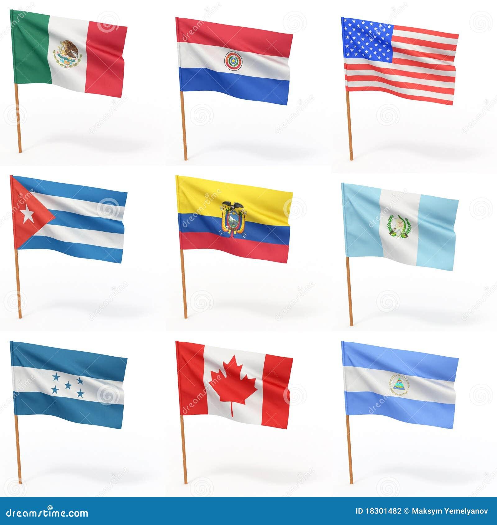 Kraj 4 amerykańskiej inkasowej flaga