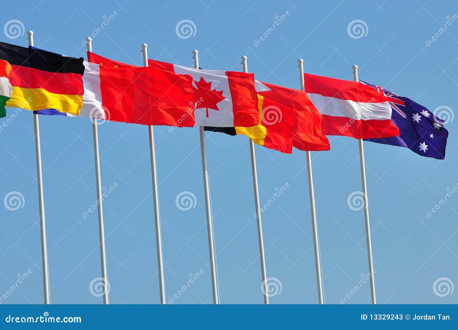 Kraj flaga wiosłują różnorodnego