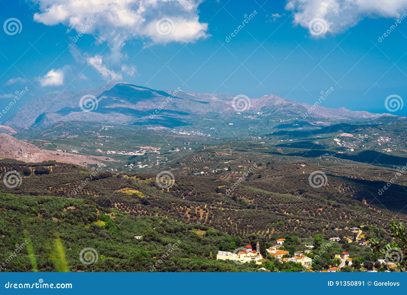 Krajobraz Crete wyspa przy zachodnią częścią wyspa