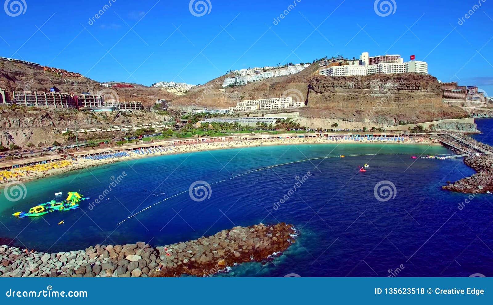 Krajobraz i widok piękny Gran Canaria przy wyspami kanaryjskimi, Hiszpania
