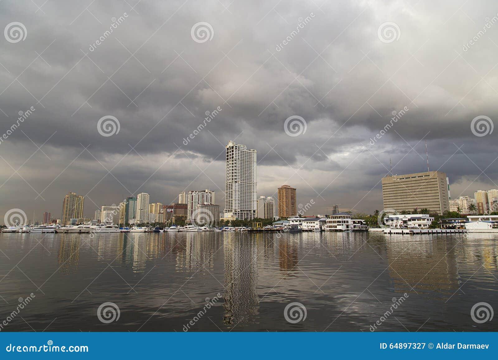 Krajobraz Manila zatoka