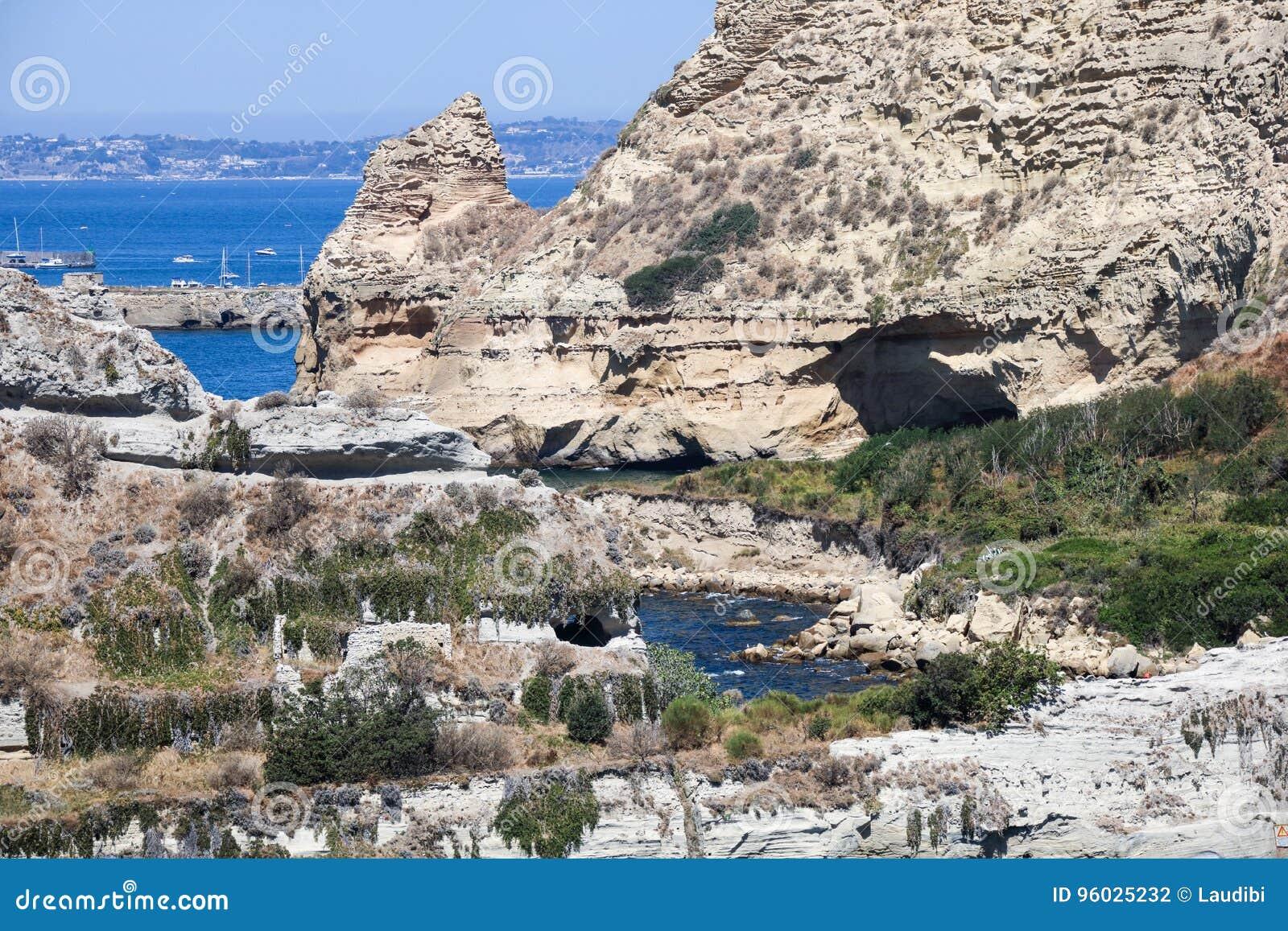 Krajobraz Naples zatoka i linia brzegowa