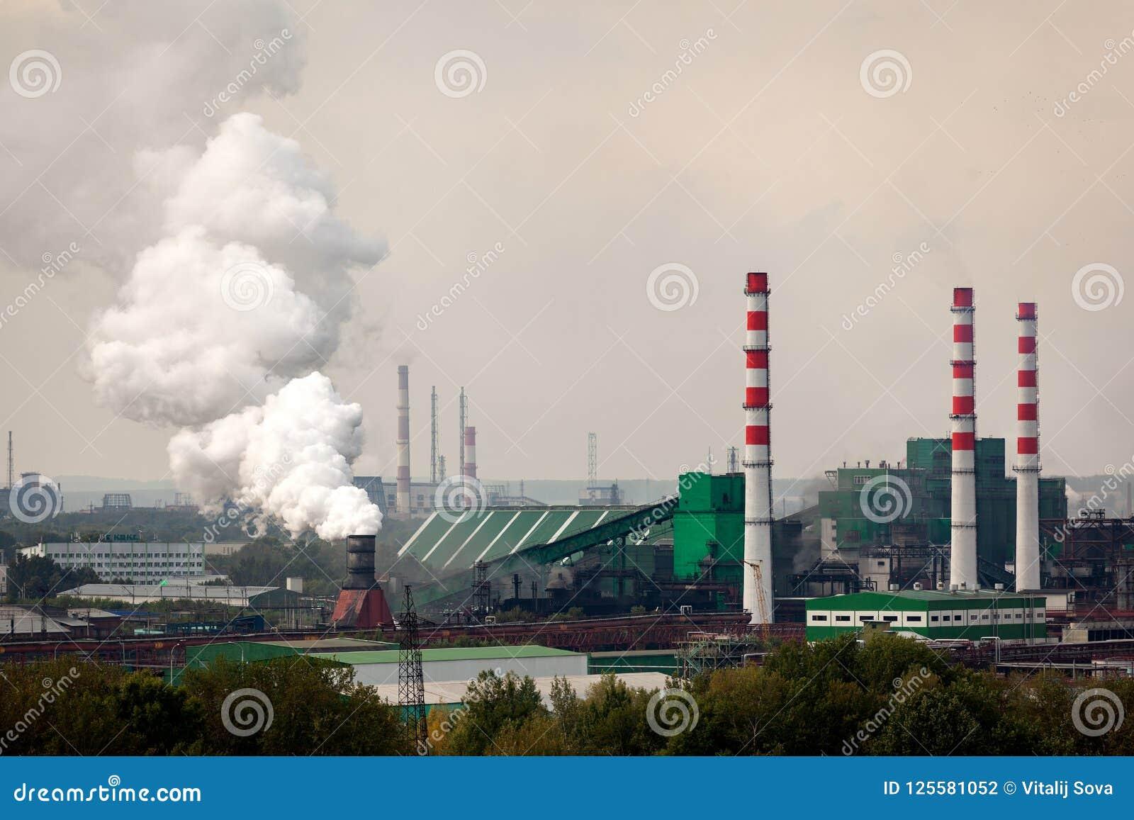 Krajobraz ogromny przemysłowy miasto