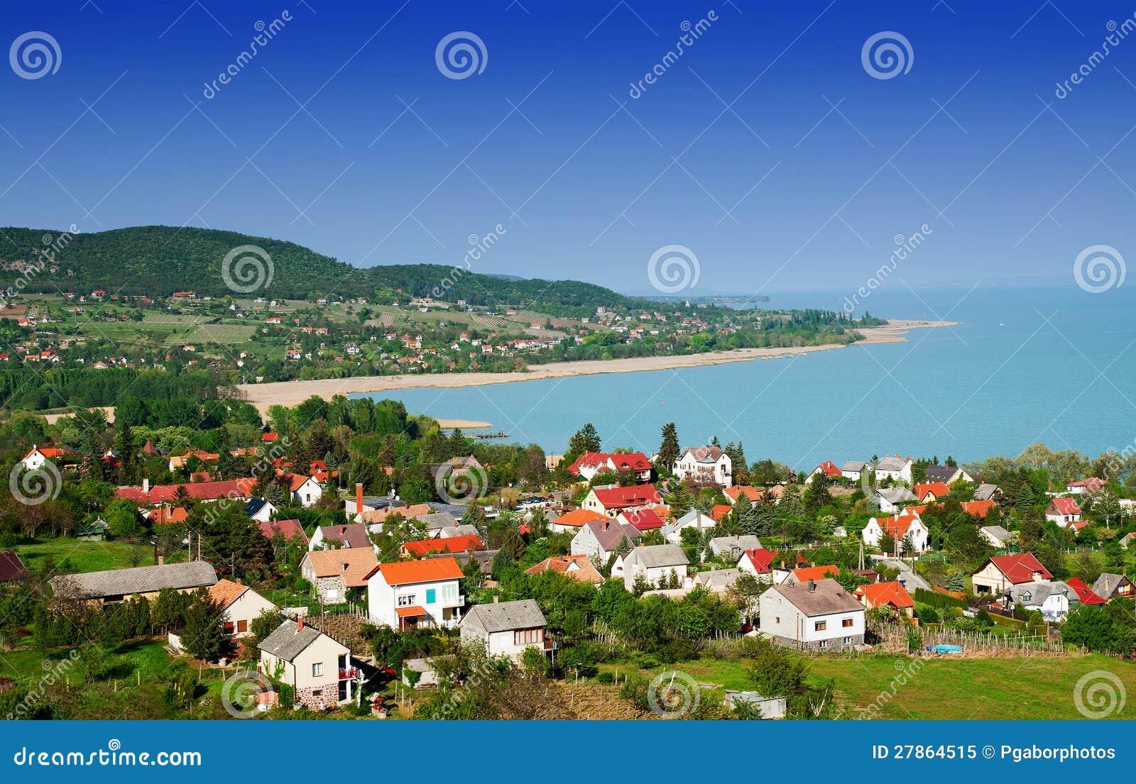 Krajobraz przy Jeziornym Balaton, Węgry