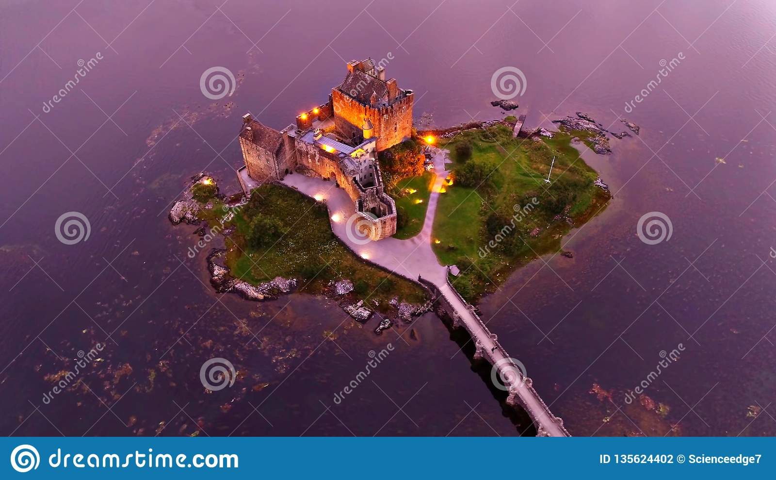 Krajobraz Scotish średniogórza wyspa Skye i