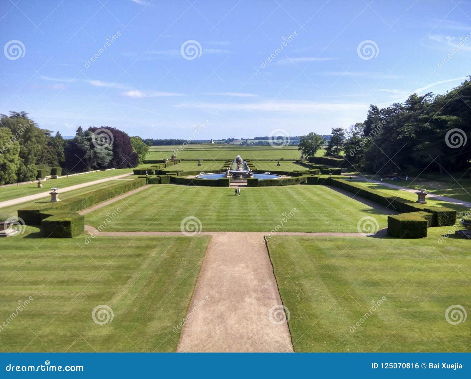 Krajobraz w grodowym Howard, England, zlany królestwo