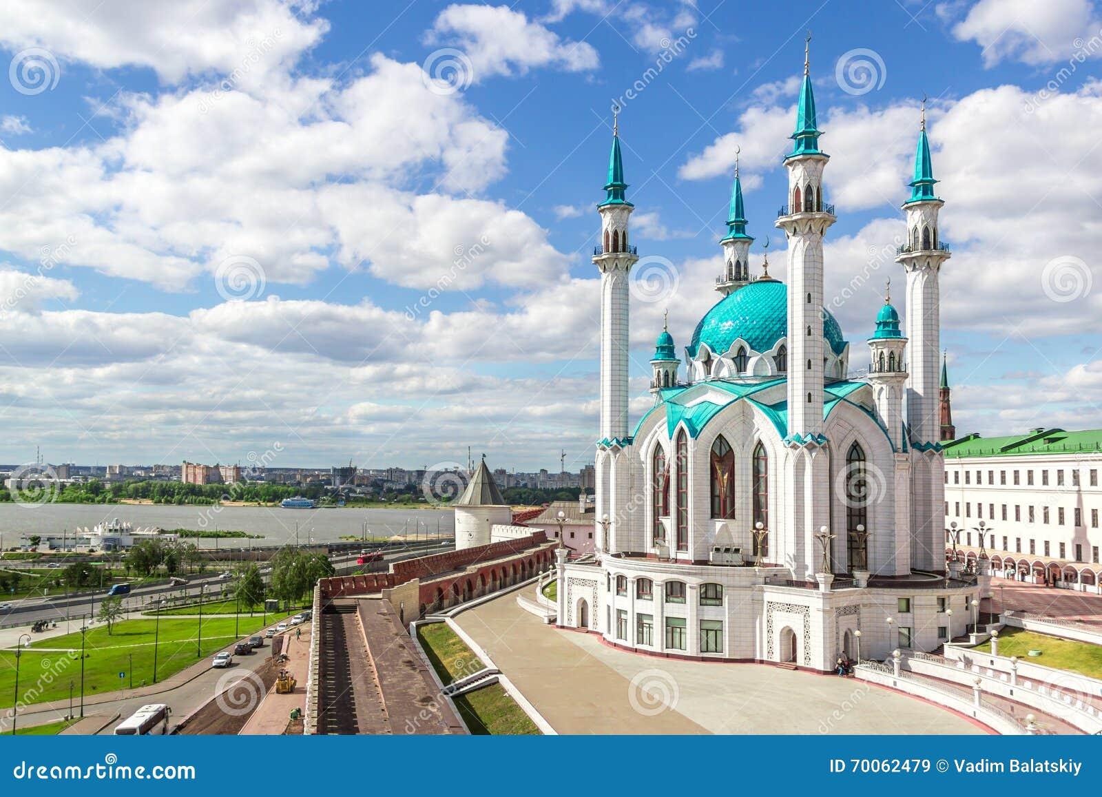 Krajobraz z Kazan meczetem