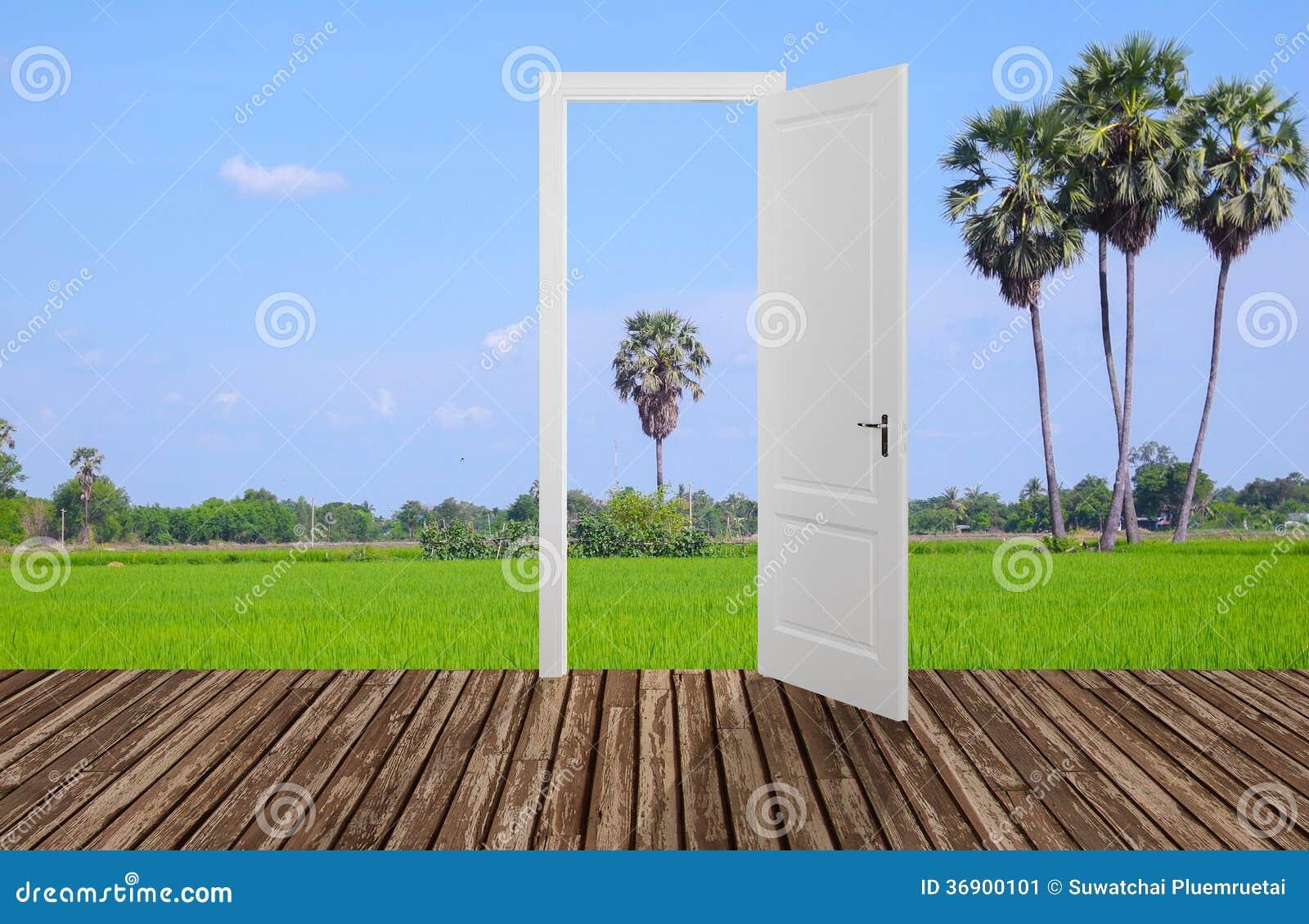 Krajobraz za otwarcia drzwi, 3D