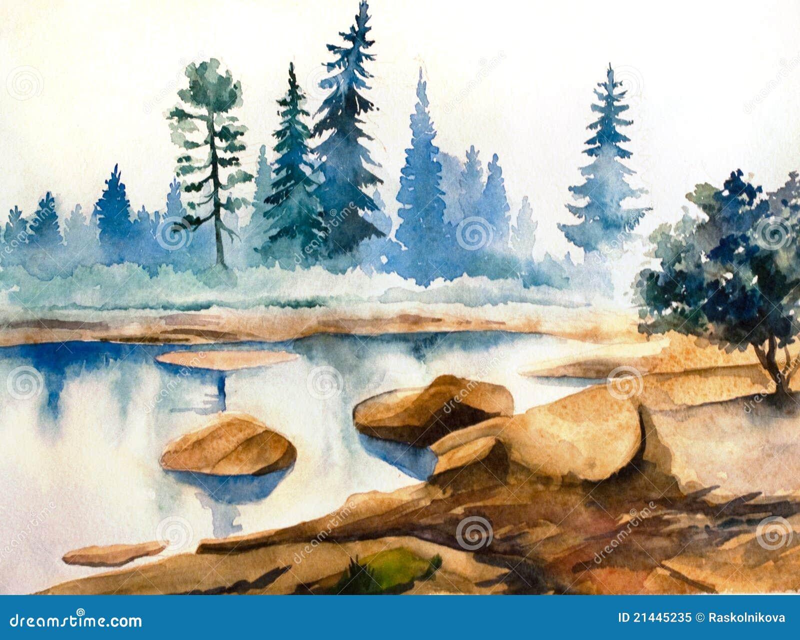 Krajobrazowa akwarela