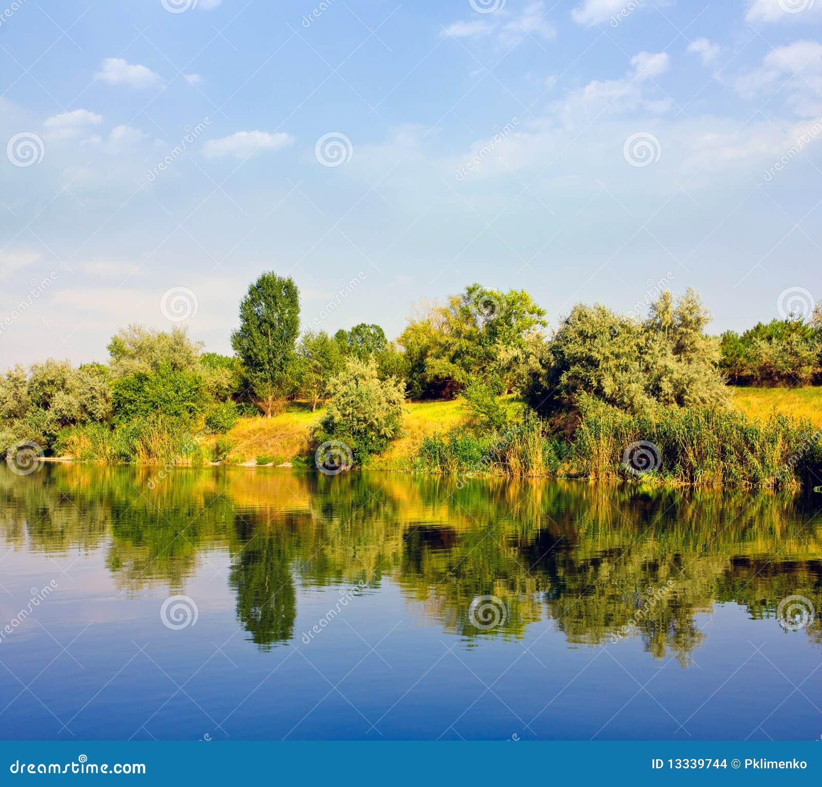 Krajobrazowa bank rzeka