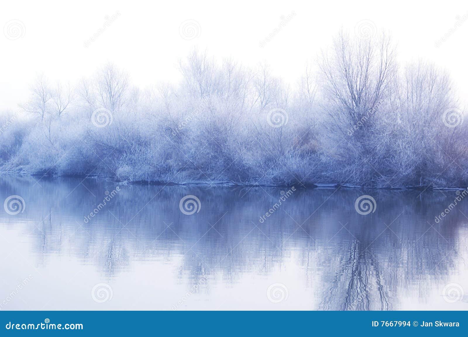 Krajobrazowa biały zima