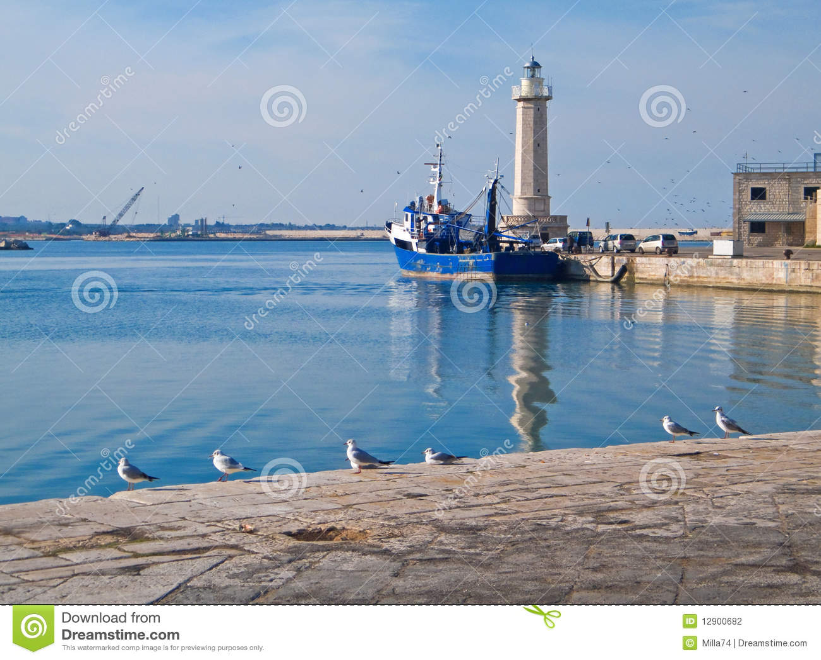 Krajobrazowego molfetta portu turystyczny widok