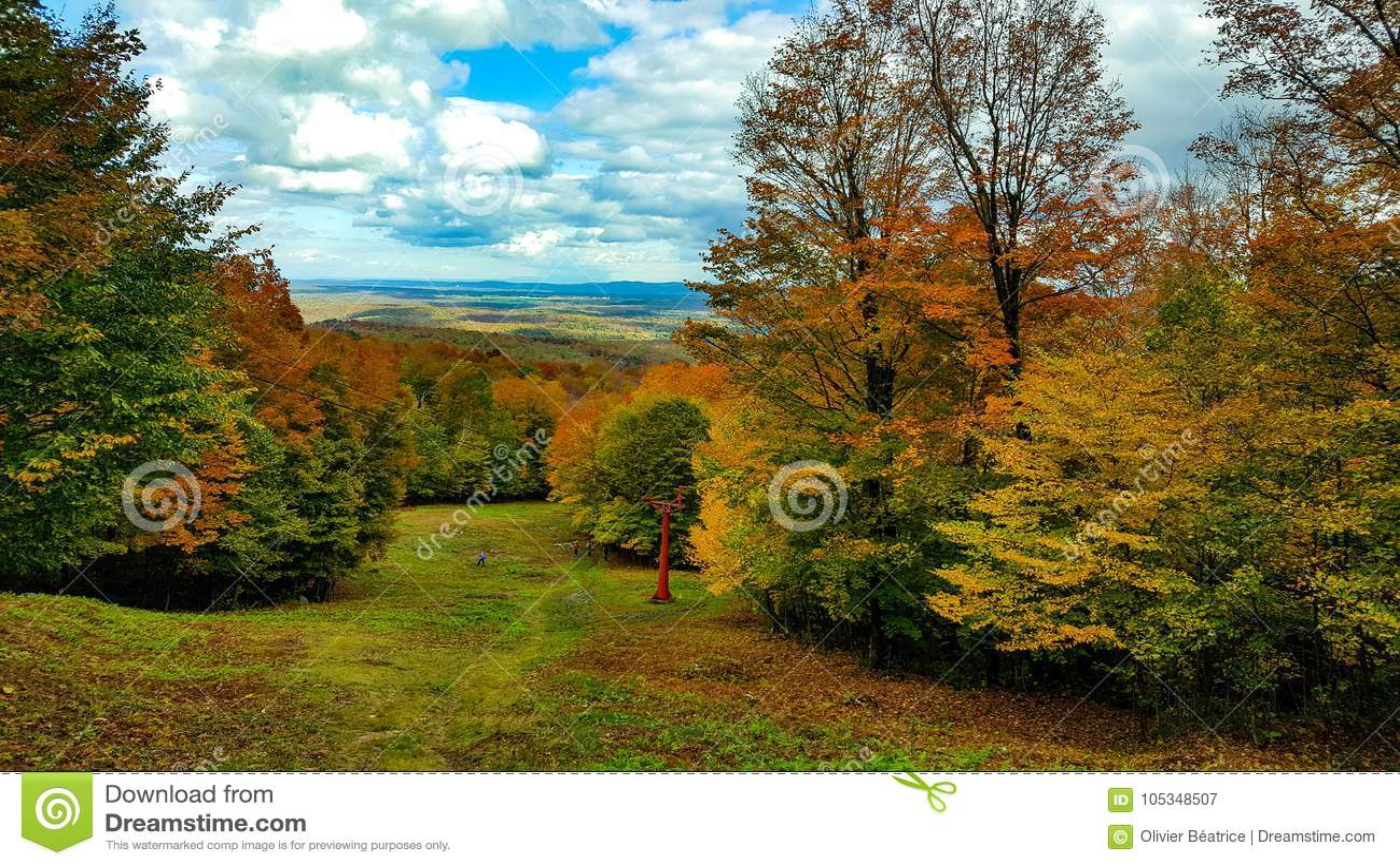 Krajobrazowy góry orford magog Québec Canada