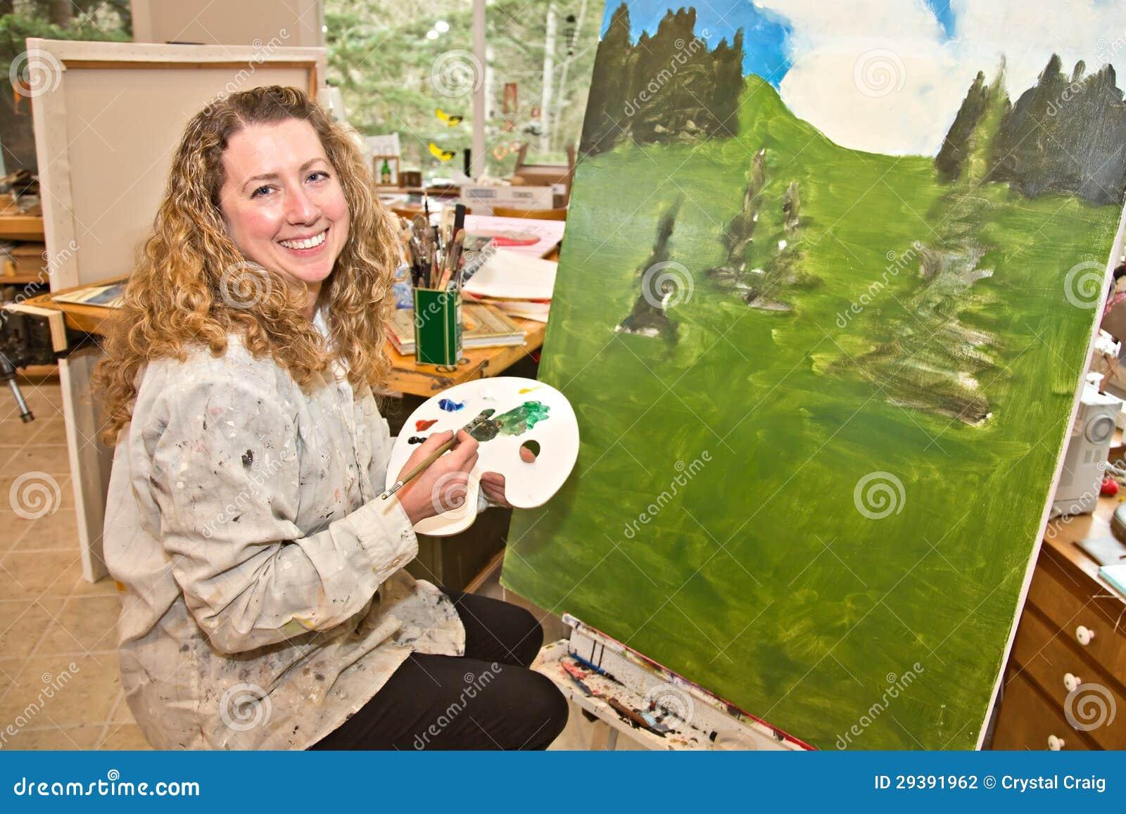 Krajobrazowy malarz