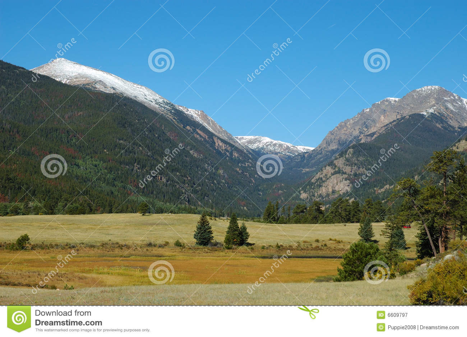 Krajobrazowy moreny góry park skalisty