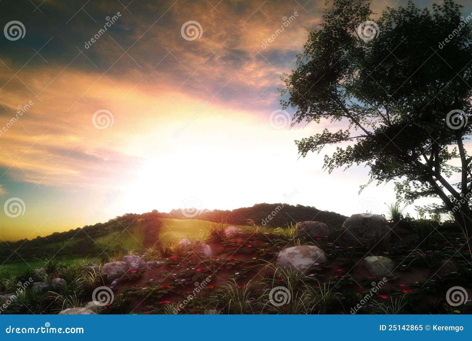 Krajobrazowy zmierzch
