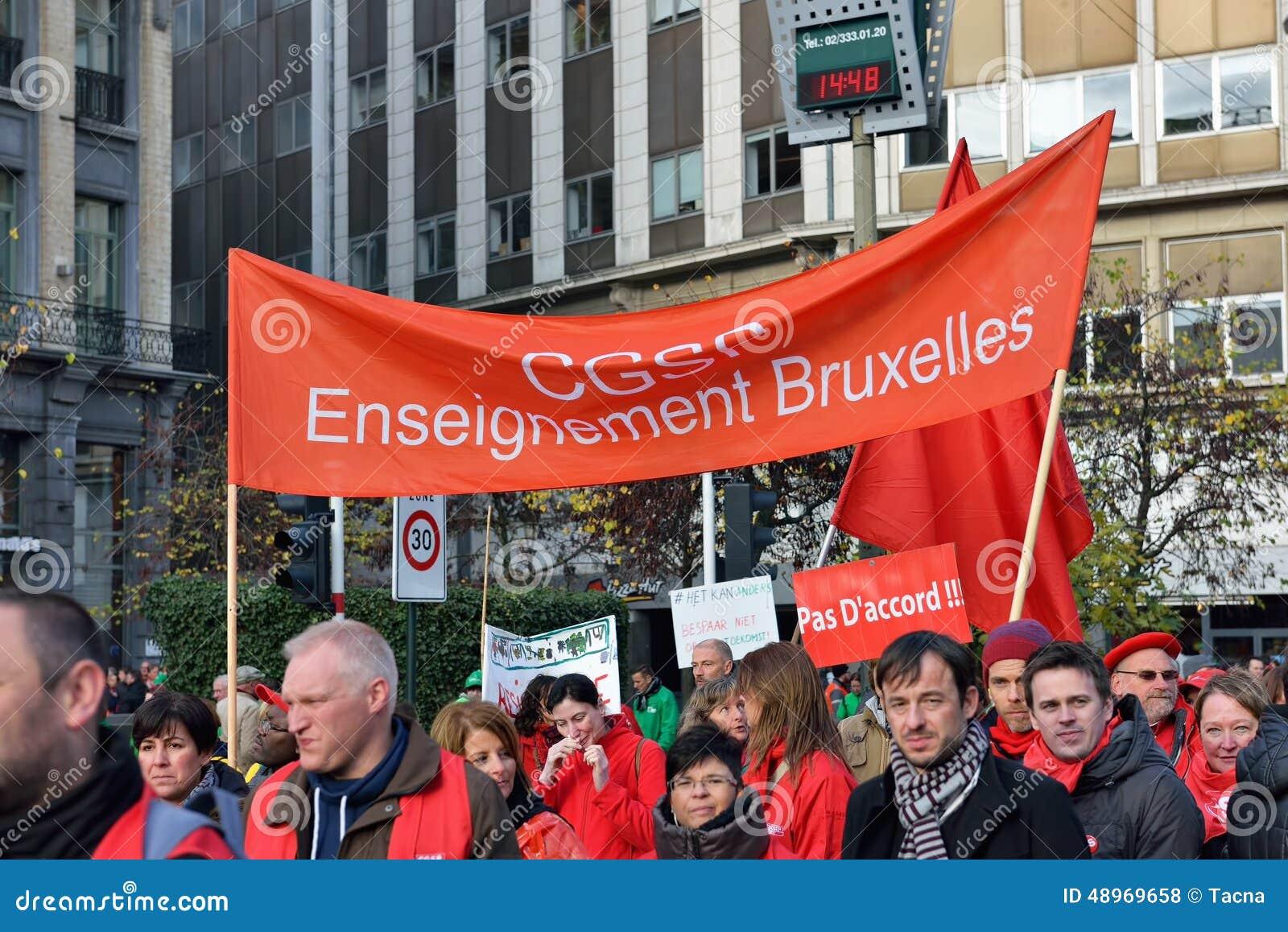 Krajowa manifestacja przeciw surowość miarom w Belgia