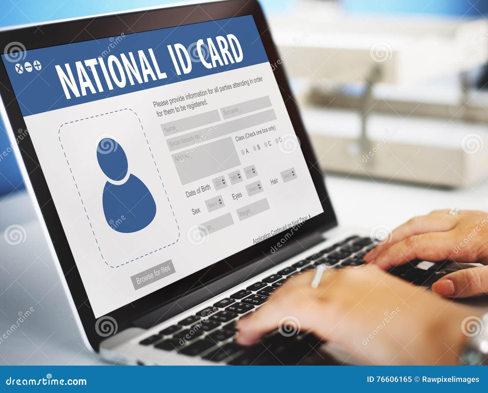 Krajowy karta identyfikacyjna dane informaci mieszkana pojęcie