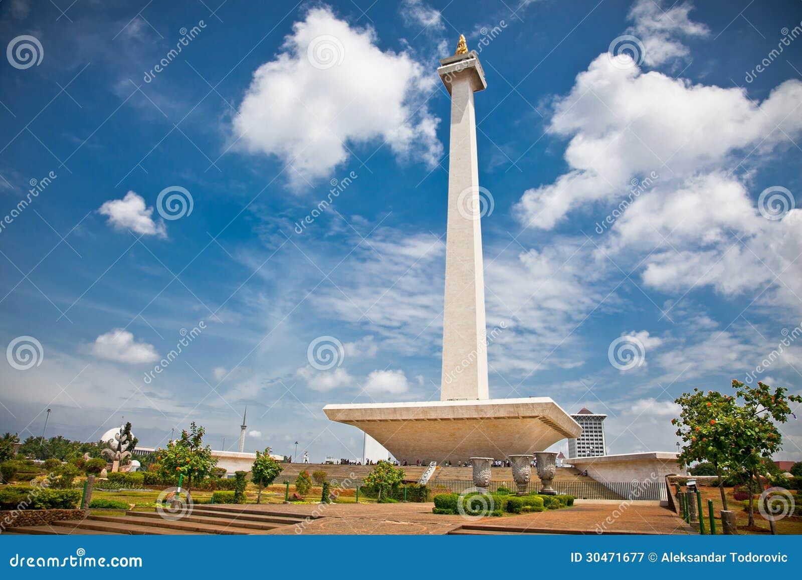 Krajowy zabytek Monas. Merdeka kwadrat, Dżakarta, Indonezja