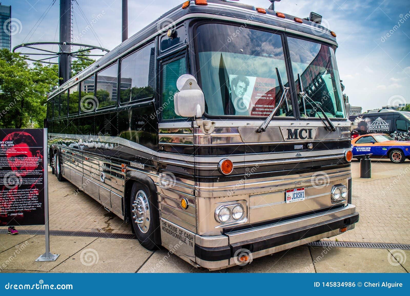 Krajoznawczy autobus jak tylko używać dla koncerta w Cleveland, Ohio
