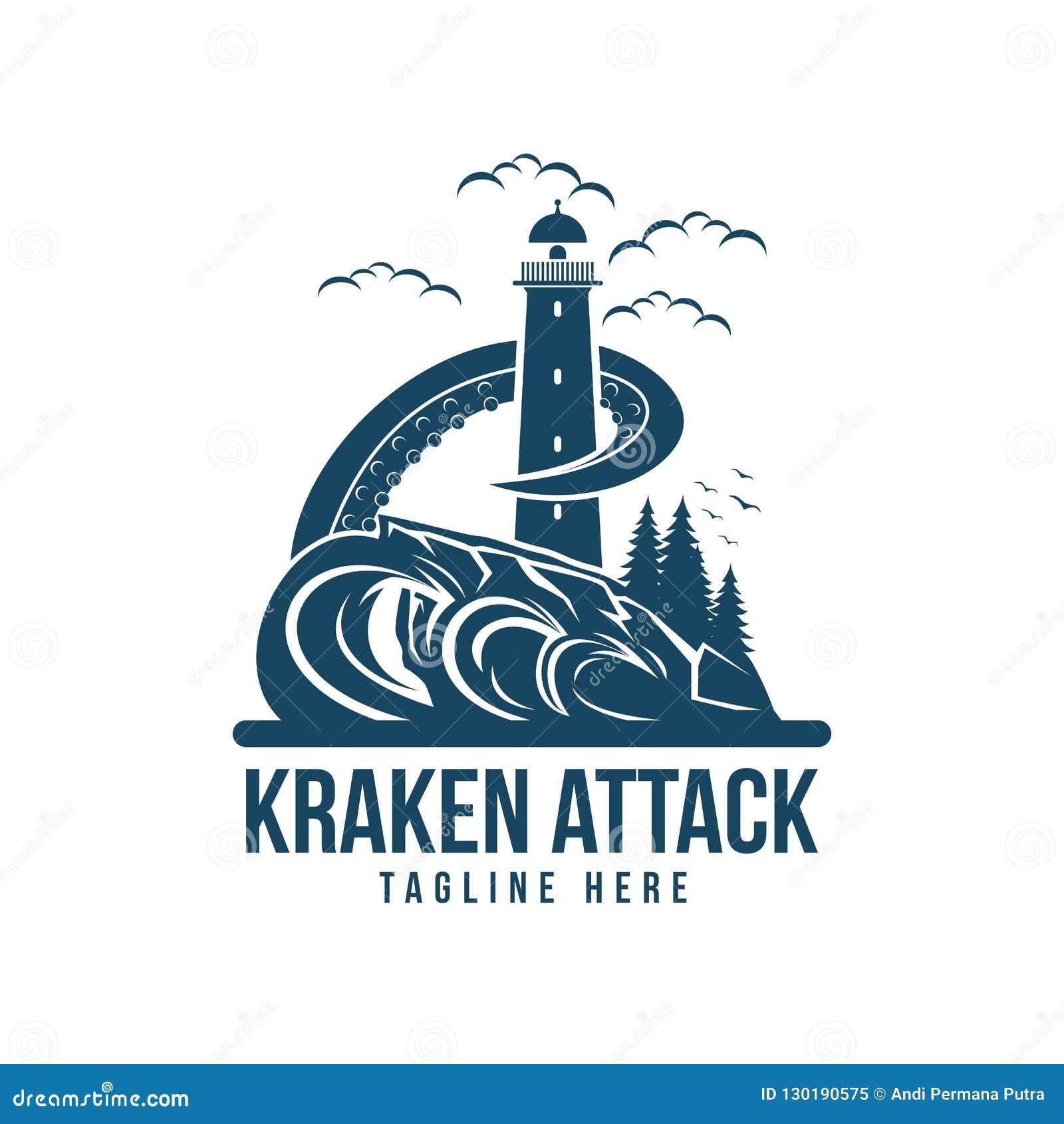 Kraken attack vector design illustration