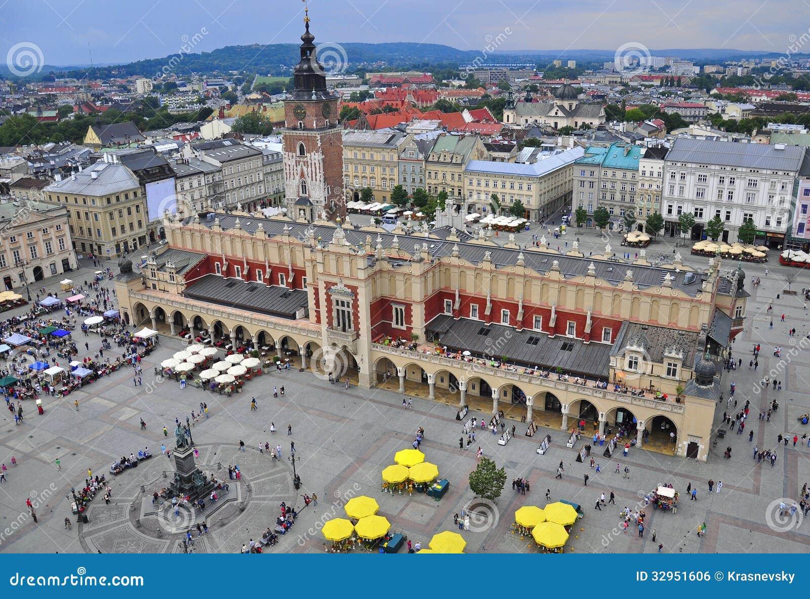 Krakow huvudsaklig fyrkant