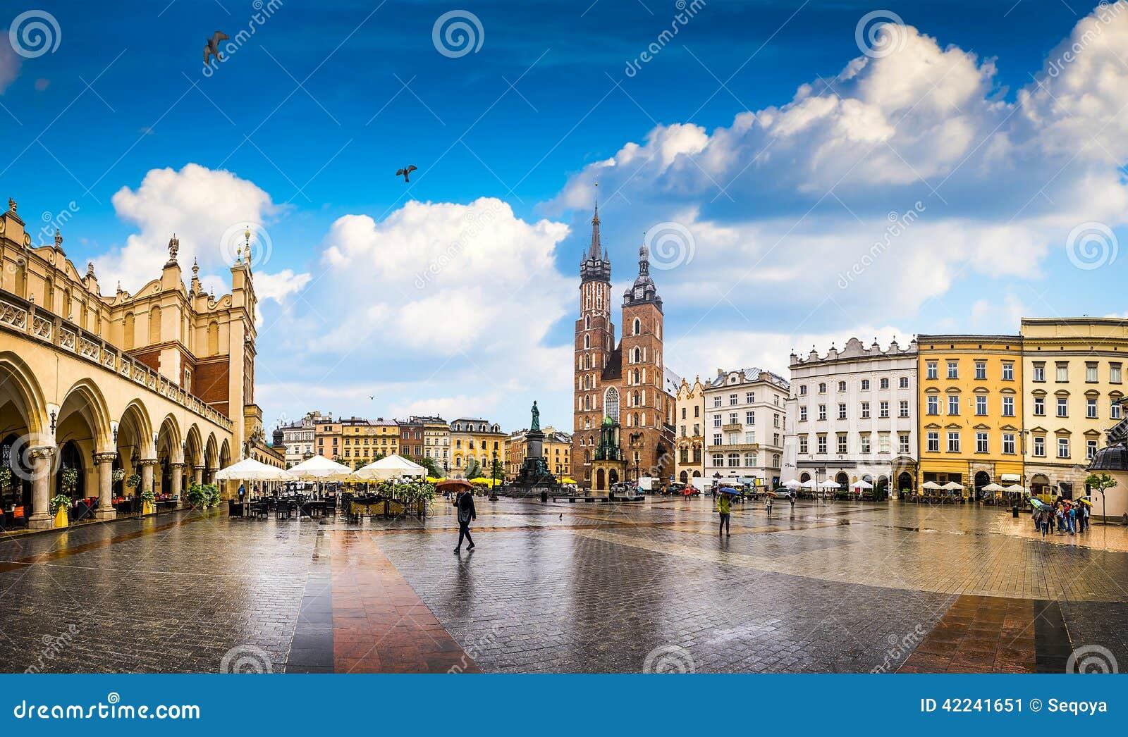 Krakow - o centro histórico do Polônia