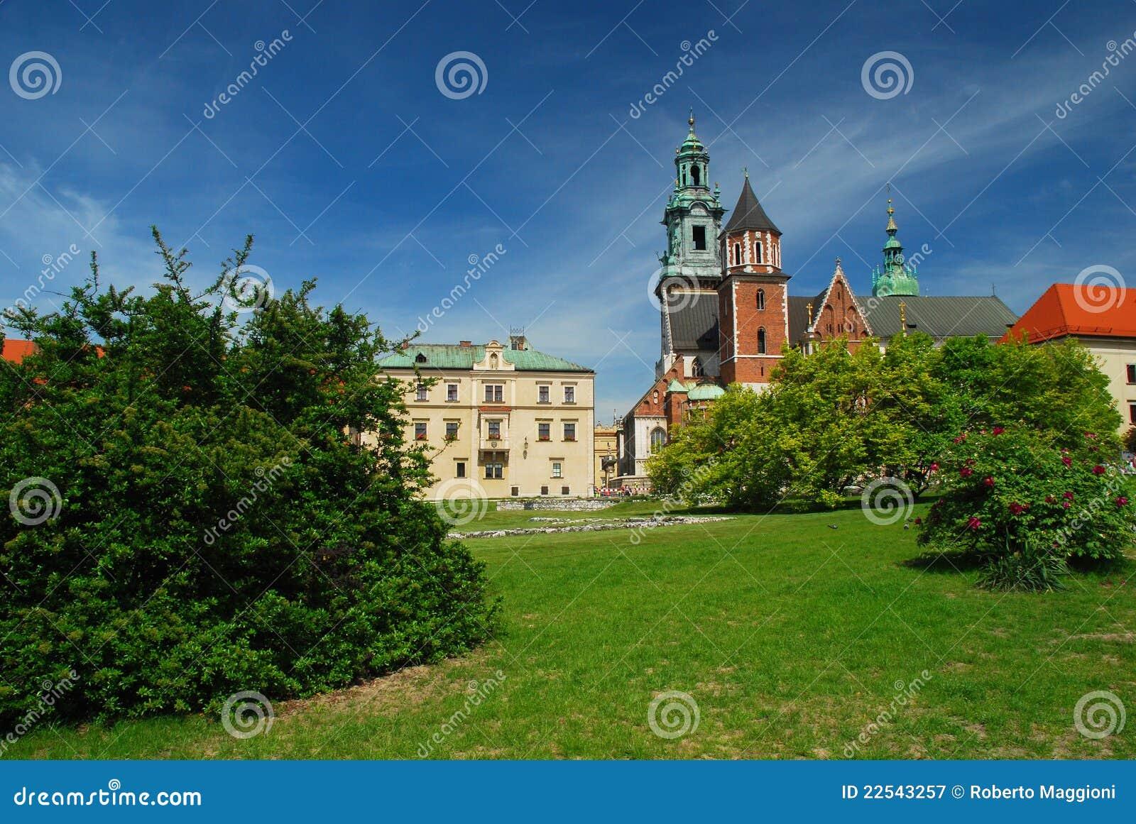 Krakow, Poland. Castelo e catedral de Wawel