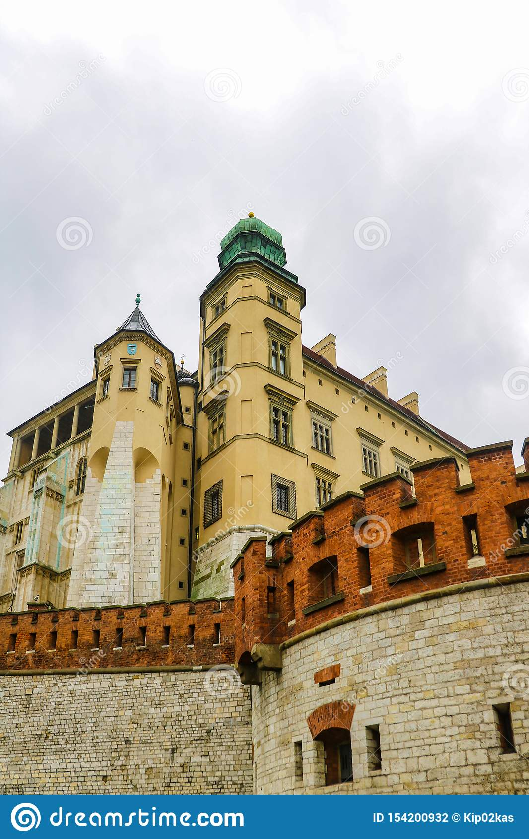 Krakow, Poland - May 21, 2019: Krakow - Poland`s historic center, a city with ancient architecture