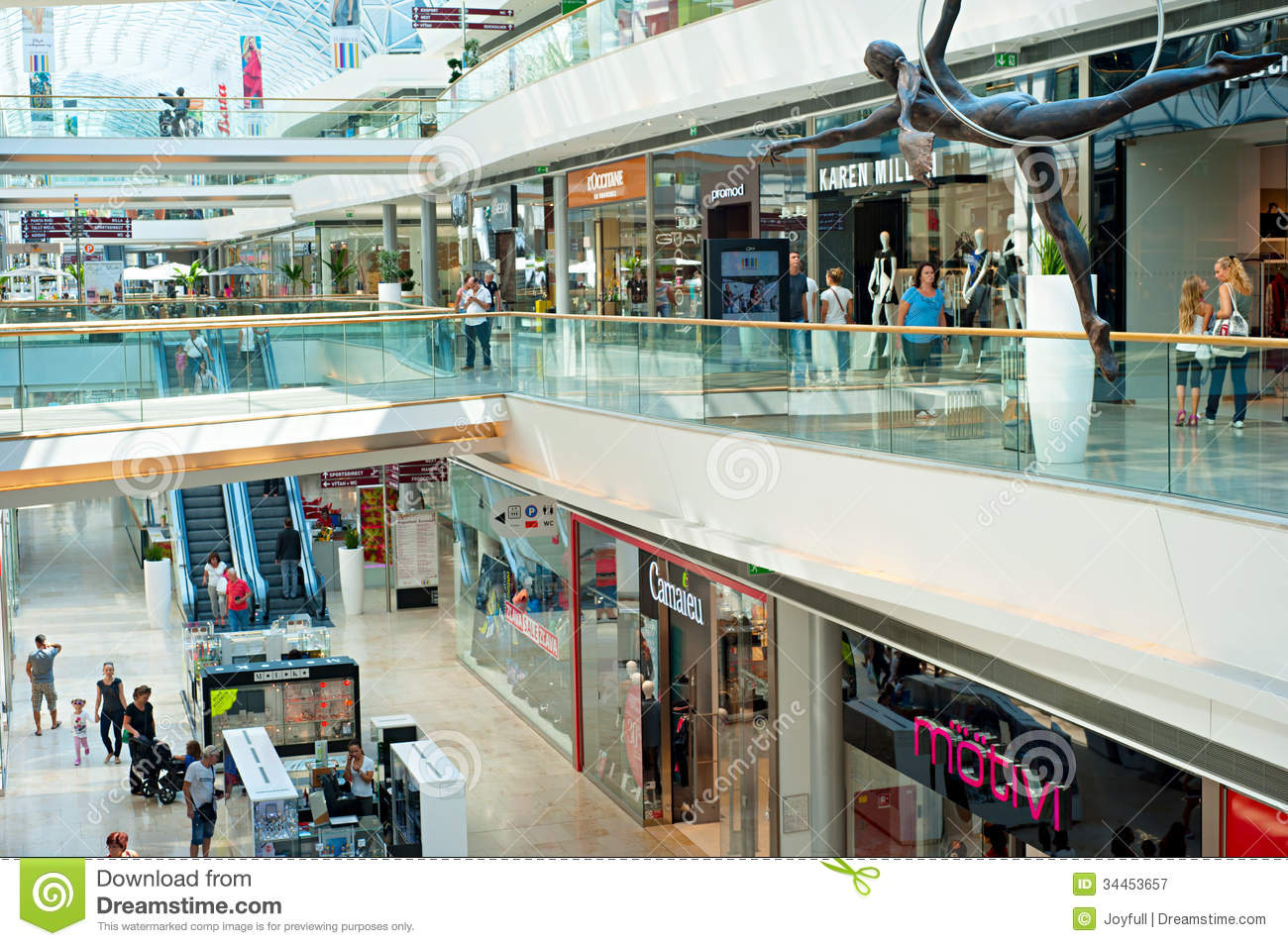 Krakow Shopping Mall Editorial Photography Image 34453657