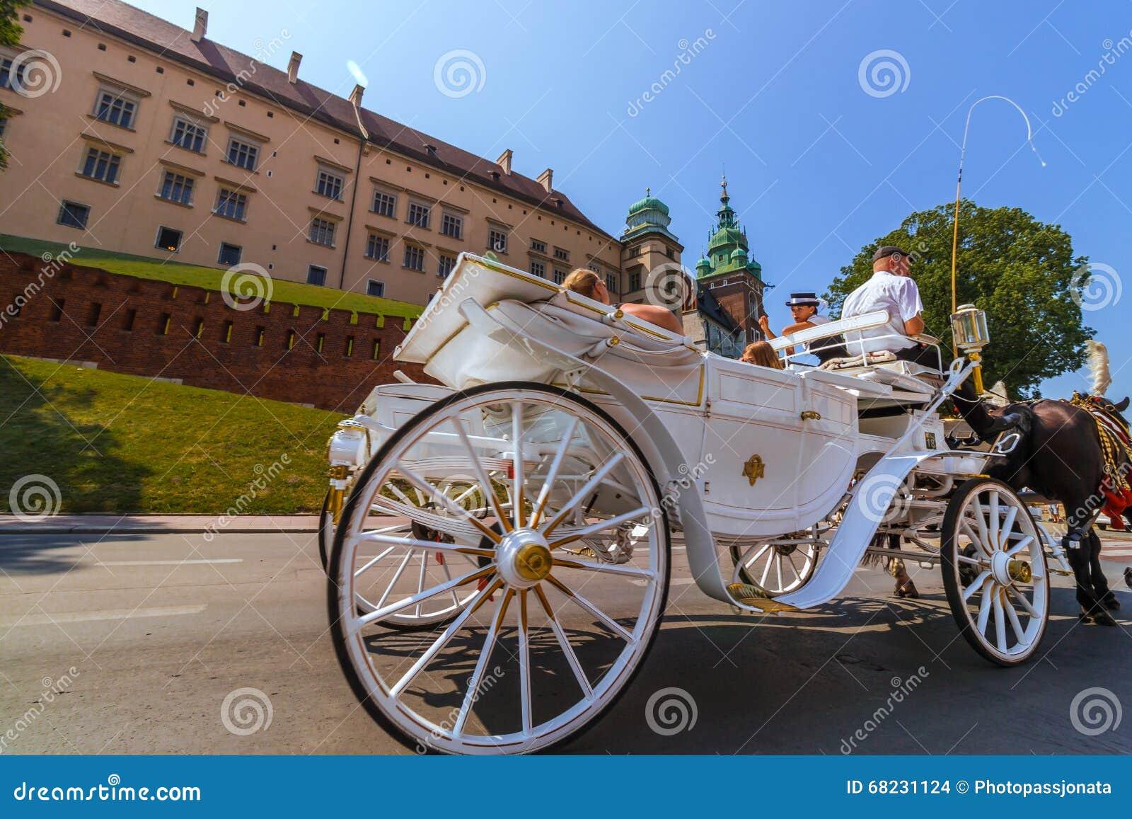 Krakowski (Krakow) - Polska końska kareciana wycieczka turysyczna Wawel kasztel